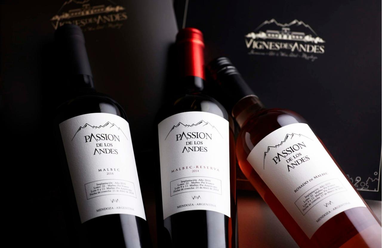 3 vinos Malbec Clasico, Reserva y Rosado